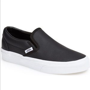Vans Classic Slip On Perforated Leather Sneaker